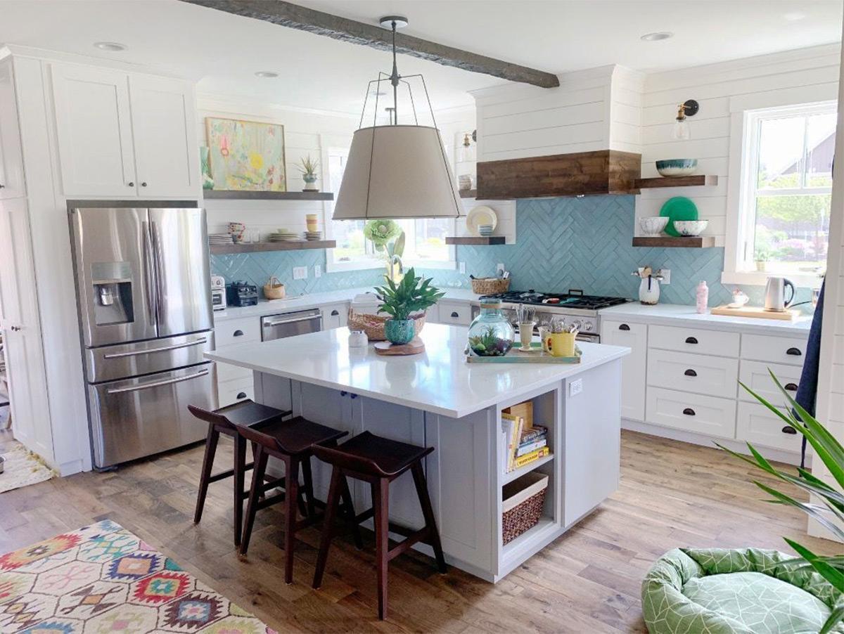 phòng bếp đẹp với thiết kế hiện đại
