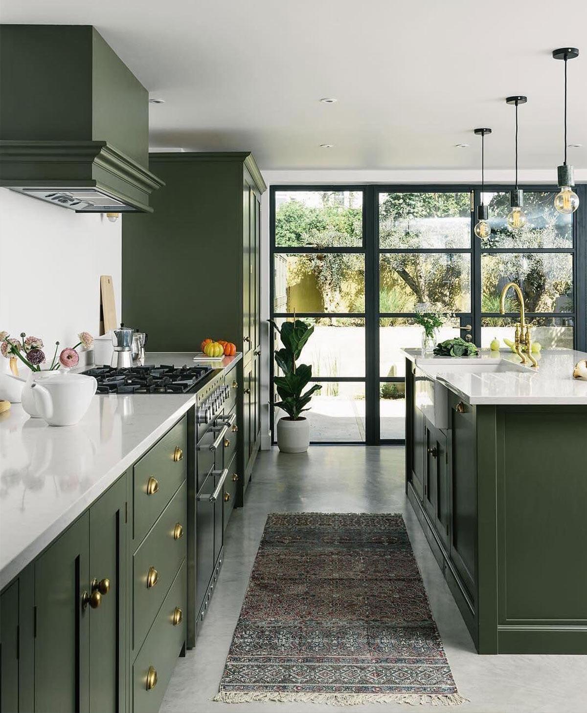 thiết kế phòng bếp theo tone màu chủ đạo