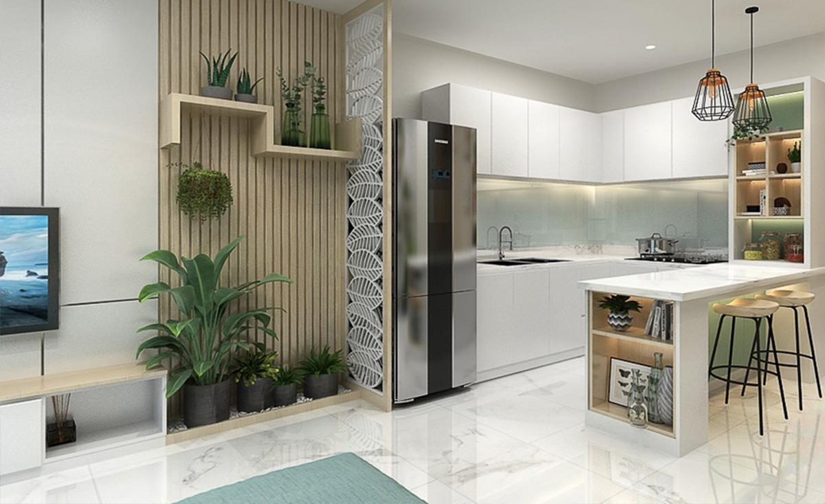 trang trí phòng bếp với màu sắc hài hòa