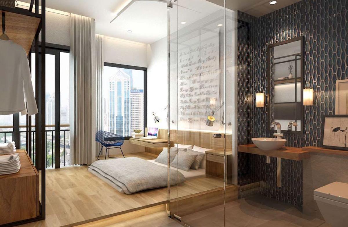 phòng ngủ không giường hiện đại, tiện nghi