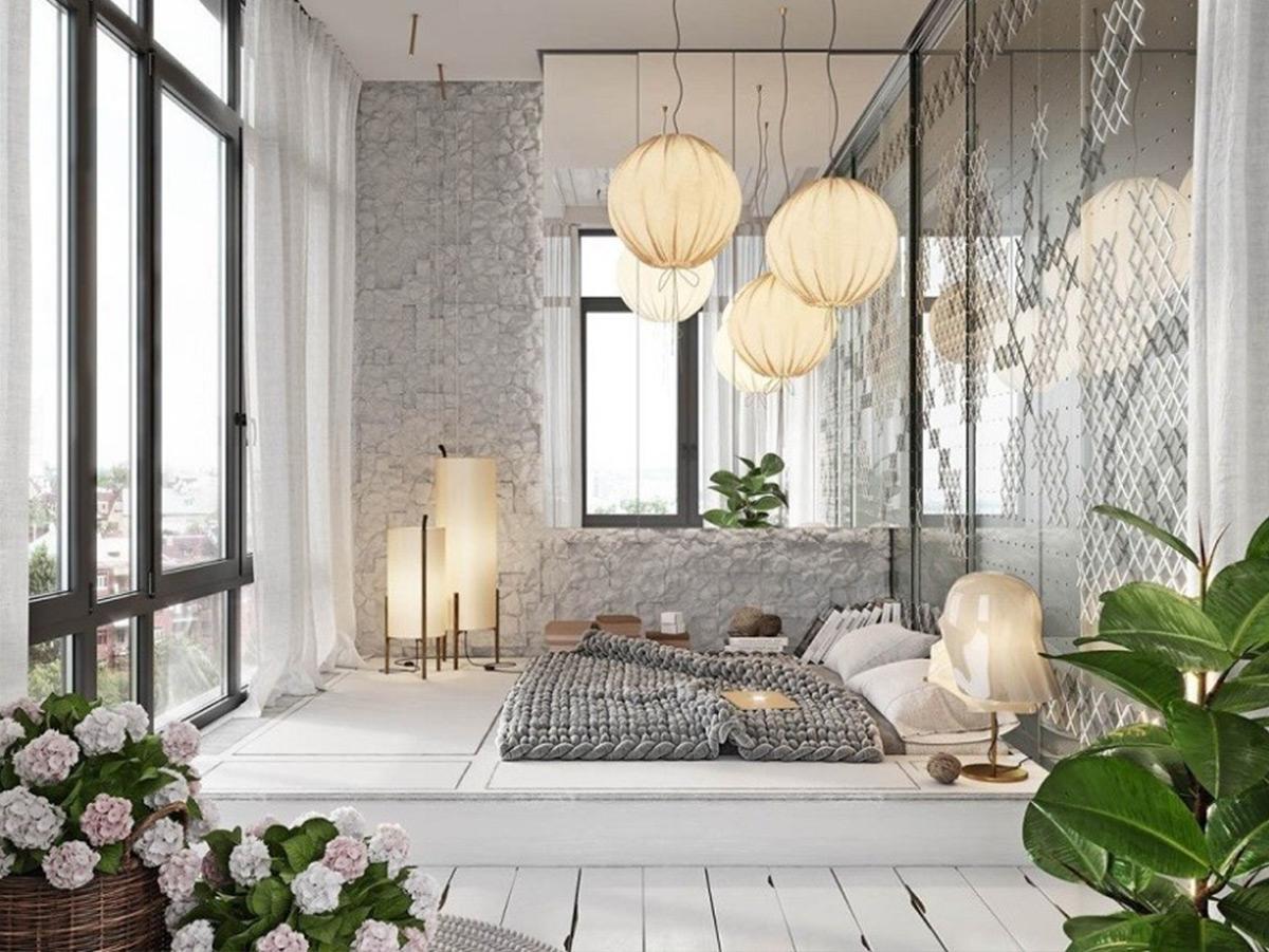 thiết kế phòng ngủ không cần giường đẹp nhất