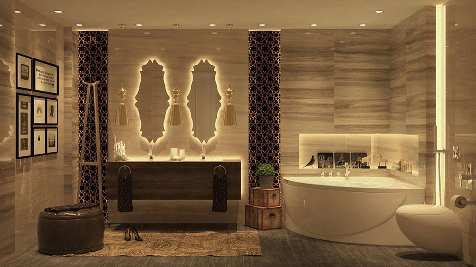 Thiết kế nội thất phòng vệ sinh bằng gỗ
