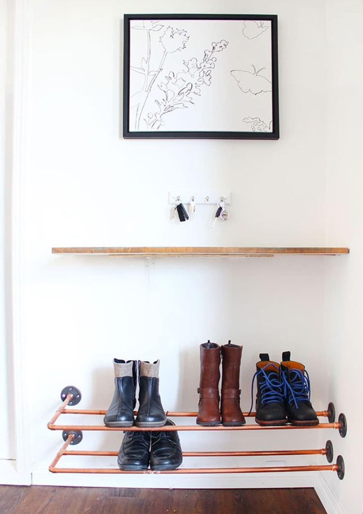 khung kim loại kệ giày