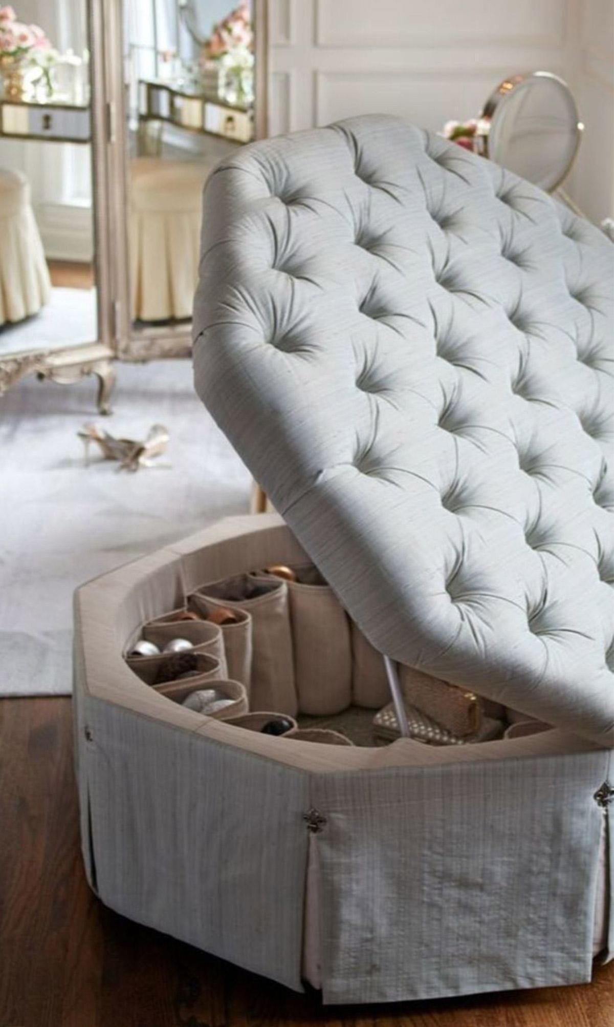 Kệ giày kết hợp với ghế