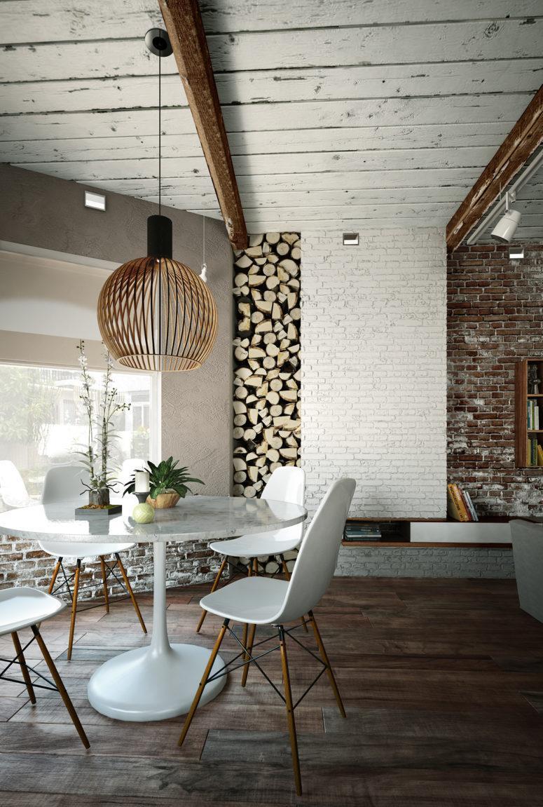 hình ảnh: thiết kế nội thất căn hộ chung cư phong cách Industry công nghiệp