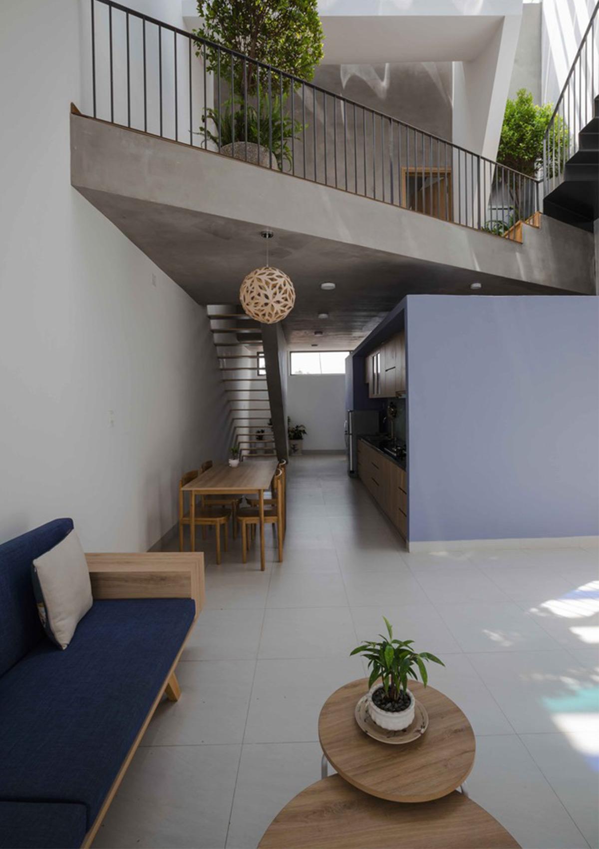 thiết kế không gian phòng khách thông thoáng