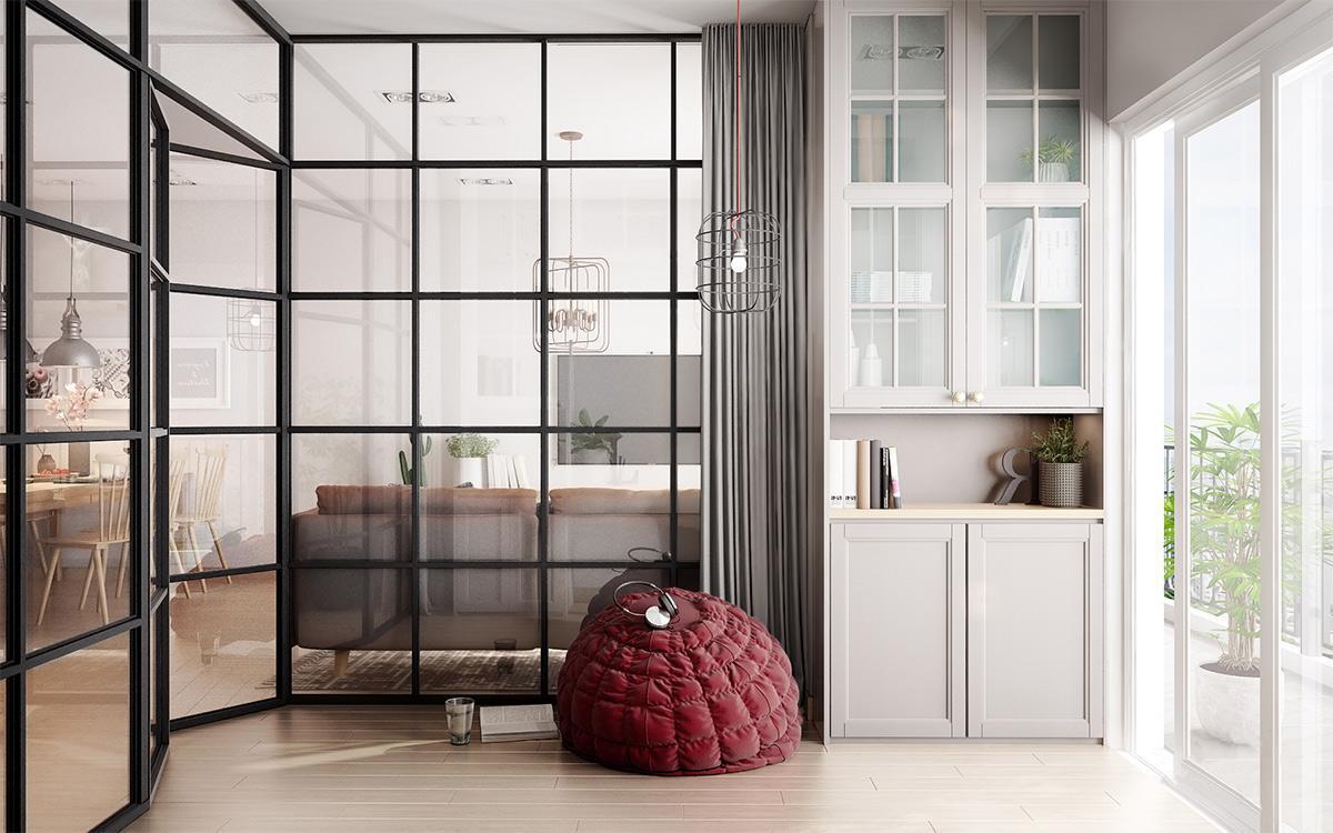 sử dụng cửa kính trong thiết kế nhà