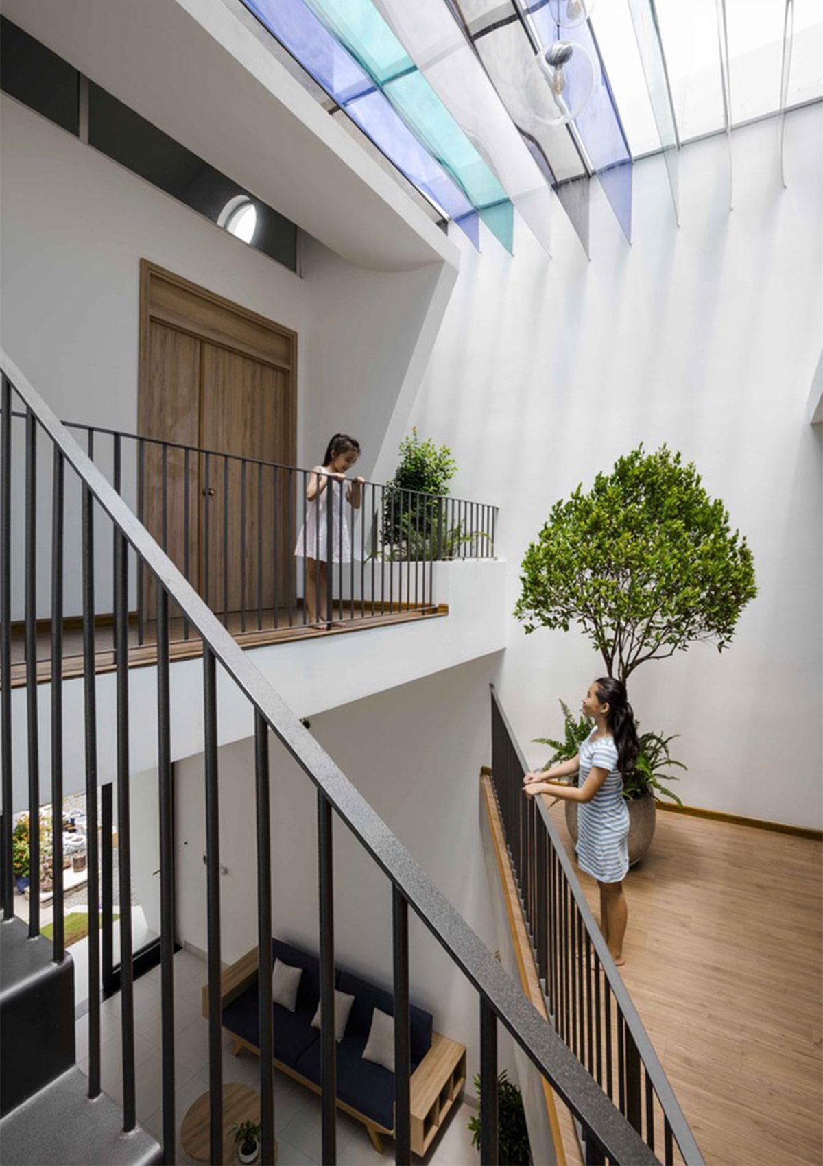 thiết kế nhà tràn ngập ánh sáng