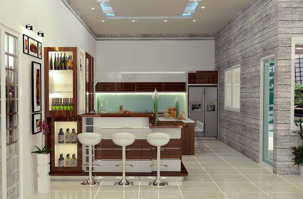 Trang trí phòng bếp theo màu trung tính