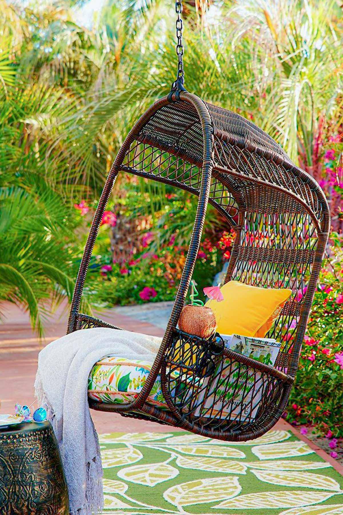 Đẹp không khác gì resort với mẫu ghế treo thư giãn ngay tại nhà