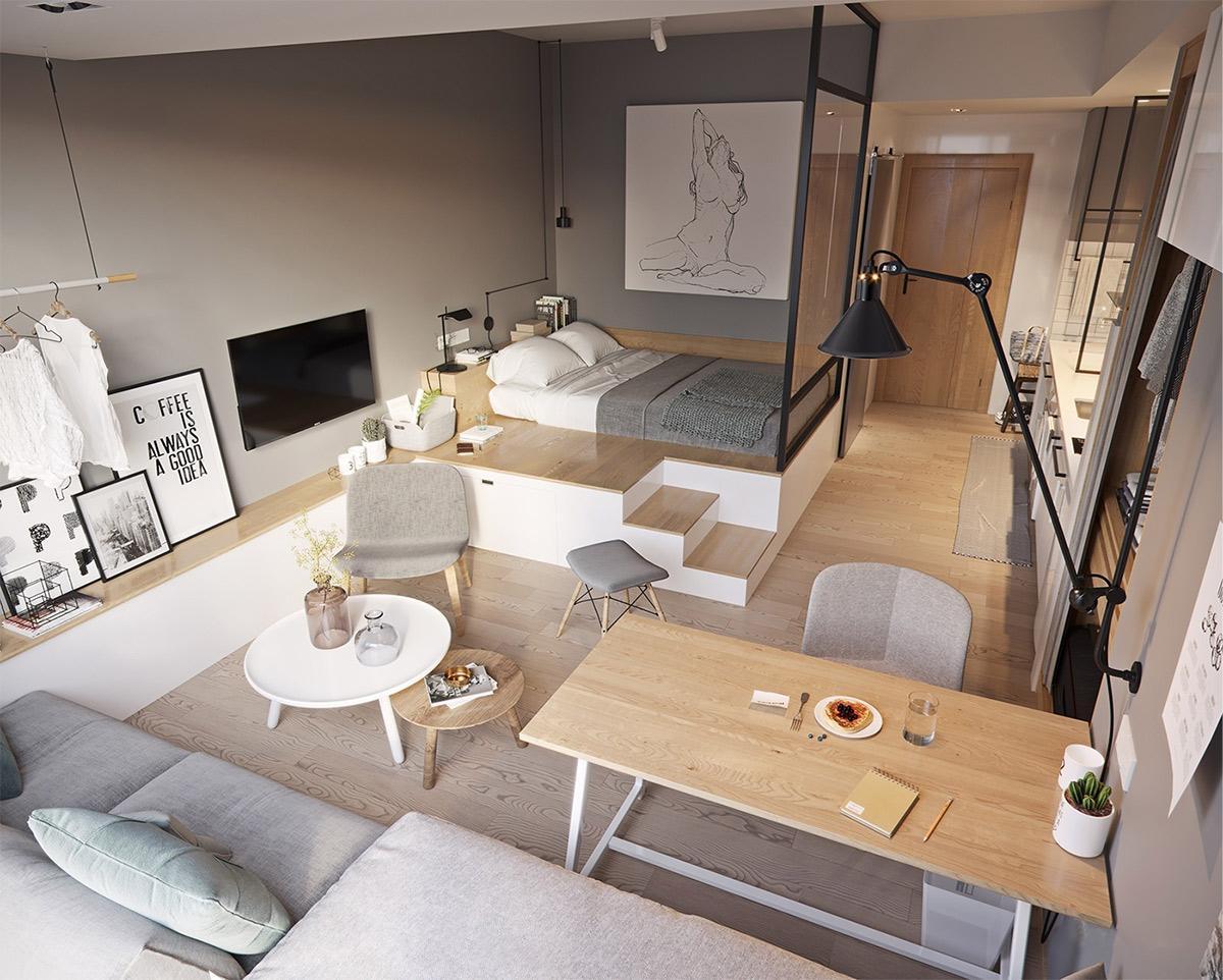 Đi theo phong cách Minimalism căn nhà như rộng gấp đôi mặc dù chỉ vỏn vẹn 32m2