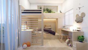 Giường ngủ và bàn học – Giải pháp 2 in 1 tiết kiệm diện tích cho căn phòng nhỏ