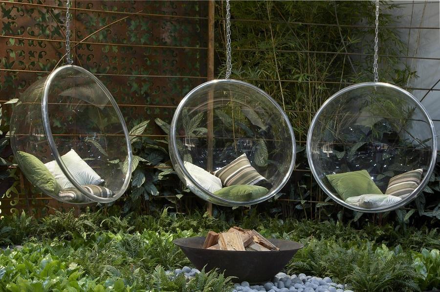 ghế võng trứng thủy tinh