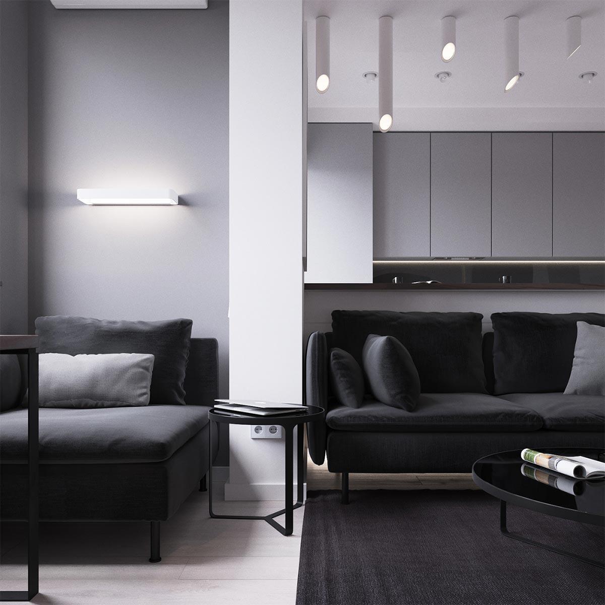 Mẫu thiết kế căn hộ 45m2 mang phong cách studio hiện đại