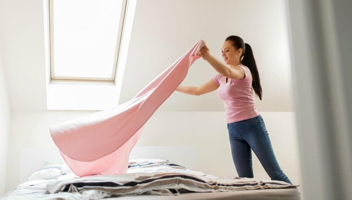 Thay đệm và ga trải giường