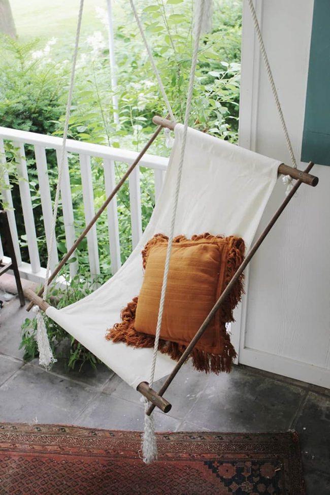 thiết kế ghế xích đu ngoài sân