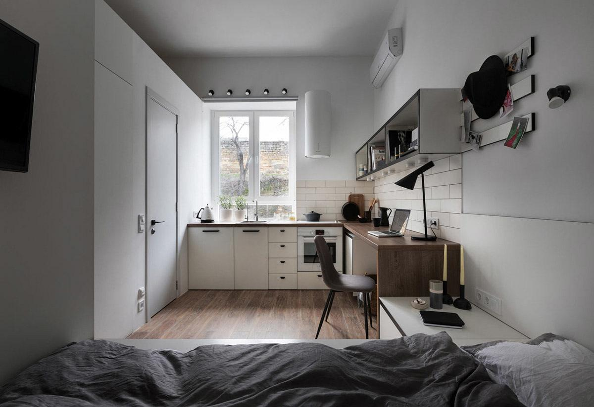 Ảnh thực tThiết kế nội thất căn hộ 17m2 với cách bài trí vô cùng thông minh và thân thiện