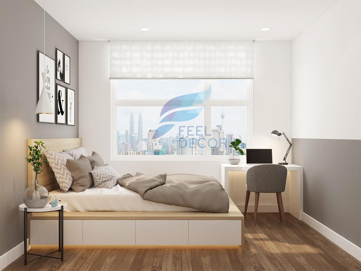 Thiết kế và thi công nội thất căn hộ 90m2 chung cư The Gold View