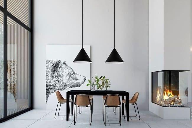 trang trí tường trong thiết kế minimalism