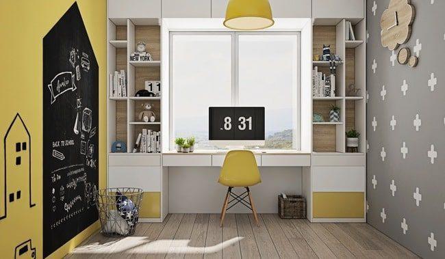 bộ bàn ghế nhỏ màu vàng