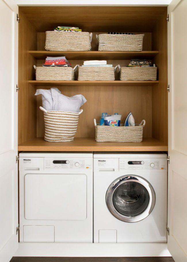 bố trí căn hộ 45m2 máy giặt