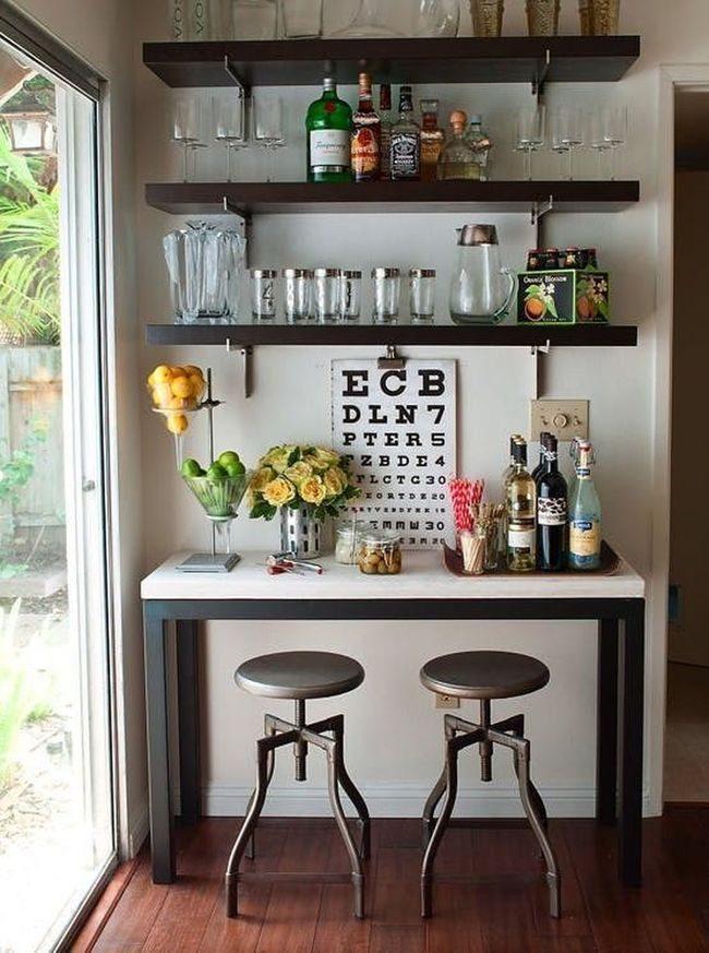 bố trí quầy bar như quán cà phê nhỏ