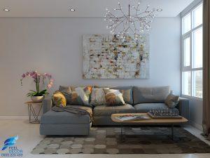 phối cảnh 3d không gian nổi căn hộ 117 m2 chung cư Hoàng Anh Thanh Bình Feel Decor