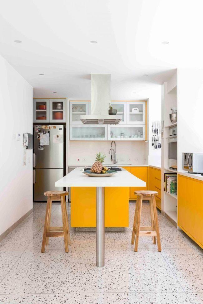 căn hộ 45m2 với phòng bếp đẹp