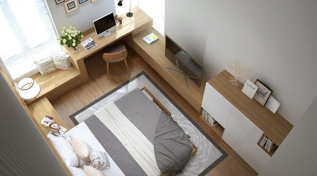 phòng ngủ căn hộ 45m2