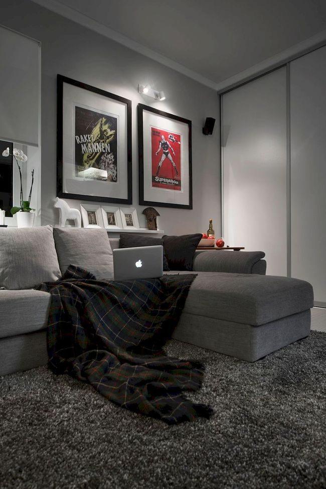 sofa và thảm trải màu