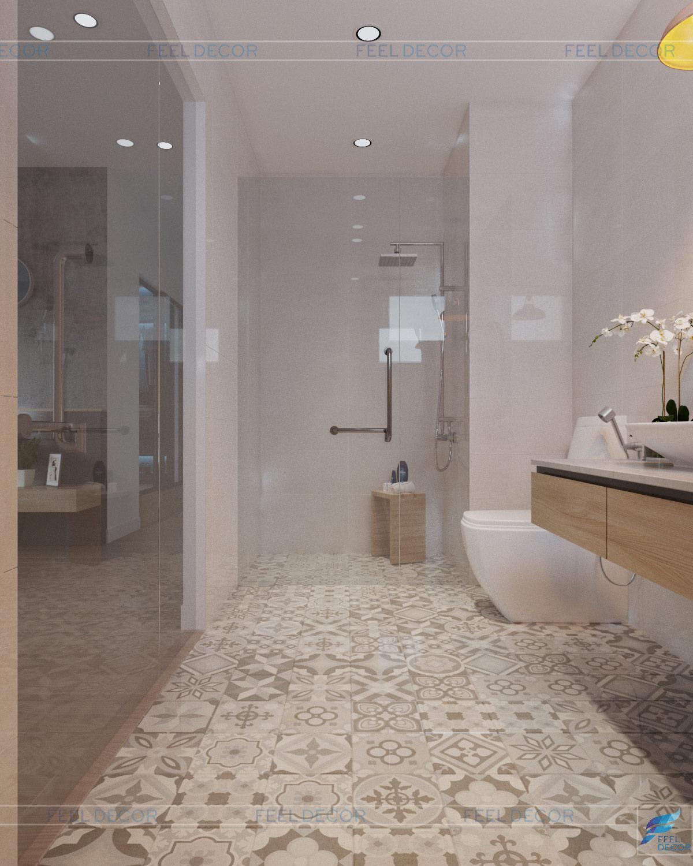 thiết kế nội thất phòng vệ sinh căn hộ 106m2