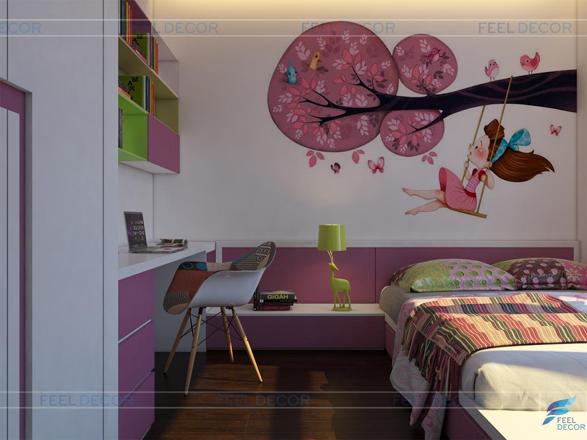 phòng ngủ bé gái dễ thương