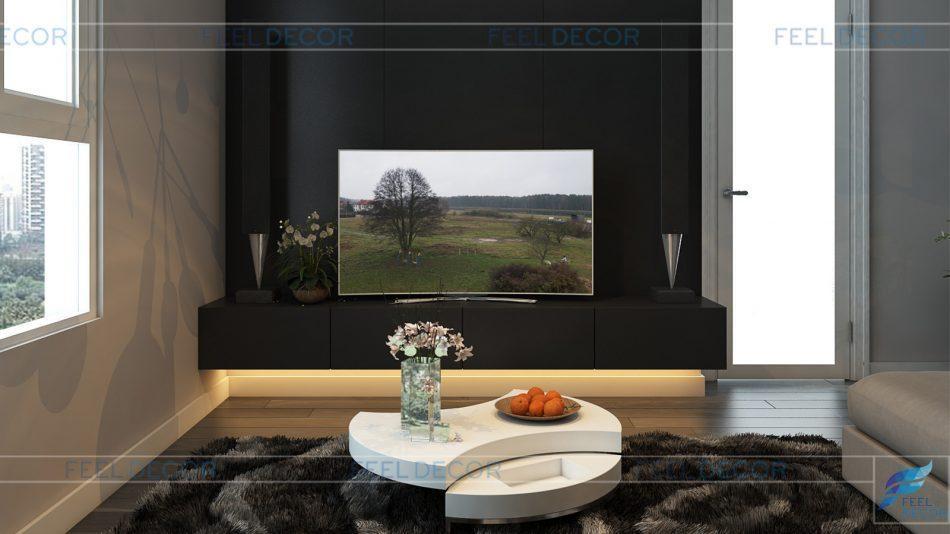 Thiết kế nội thất căn hộ 90m2 chung cư Hoàng Anh Thanh Bình
