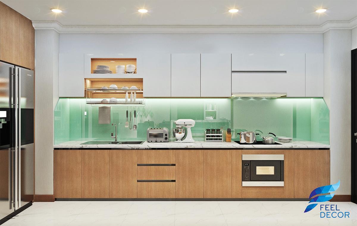thiết kế nội thất căn hộ 3 phòng ngủ rộng 143m2 chung cư Vinhomes Central Park