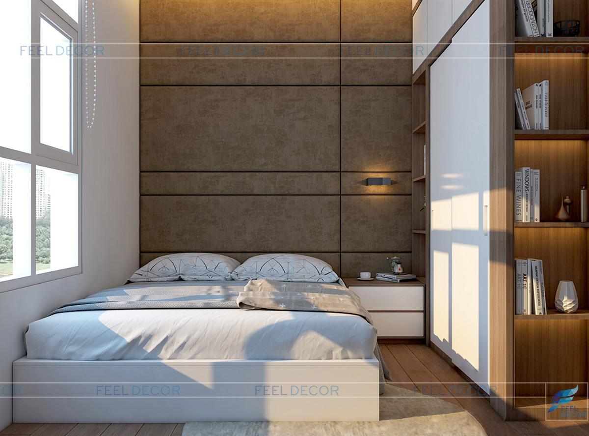 Thiết kế nội thất phòng ngủ Master chung cư Hoàng Anh Thanh Bình