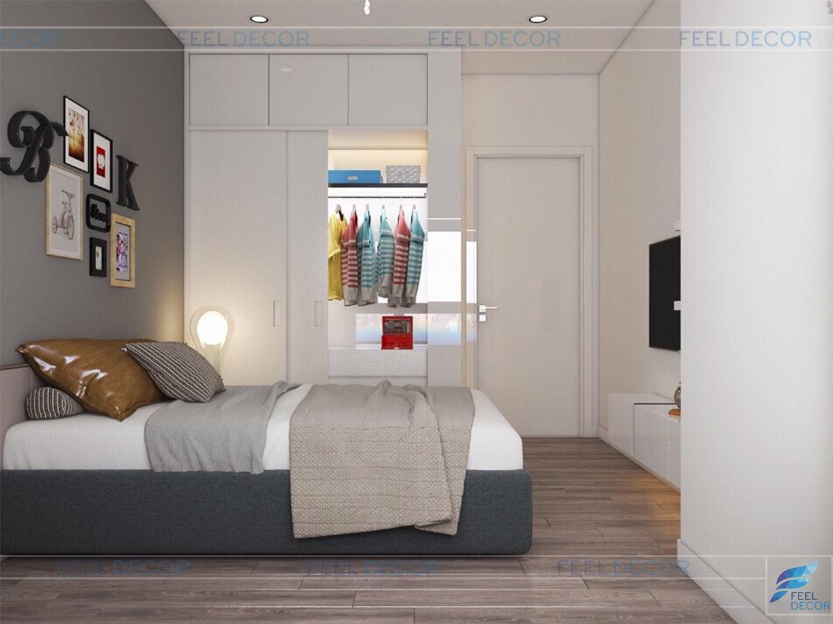thiết kế nội thất căn hộ chung cư 2 phòng ngủ diện tích 82m2 tại dự án Green Valley