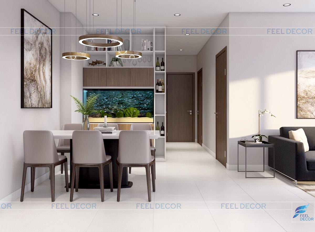 Thiết kế không gian bếp ăn và bàn ăn uống hiện đại