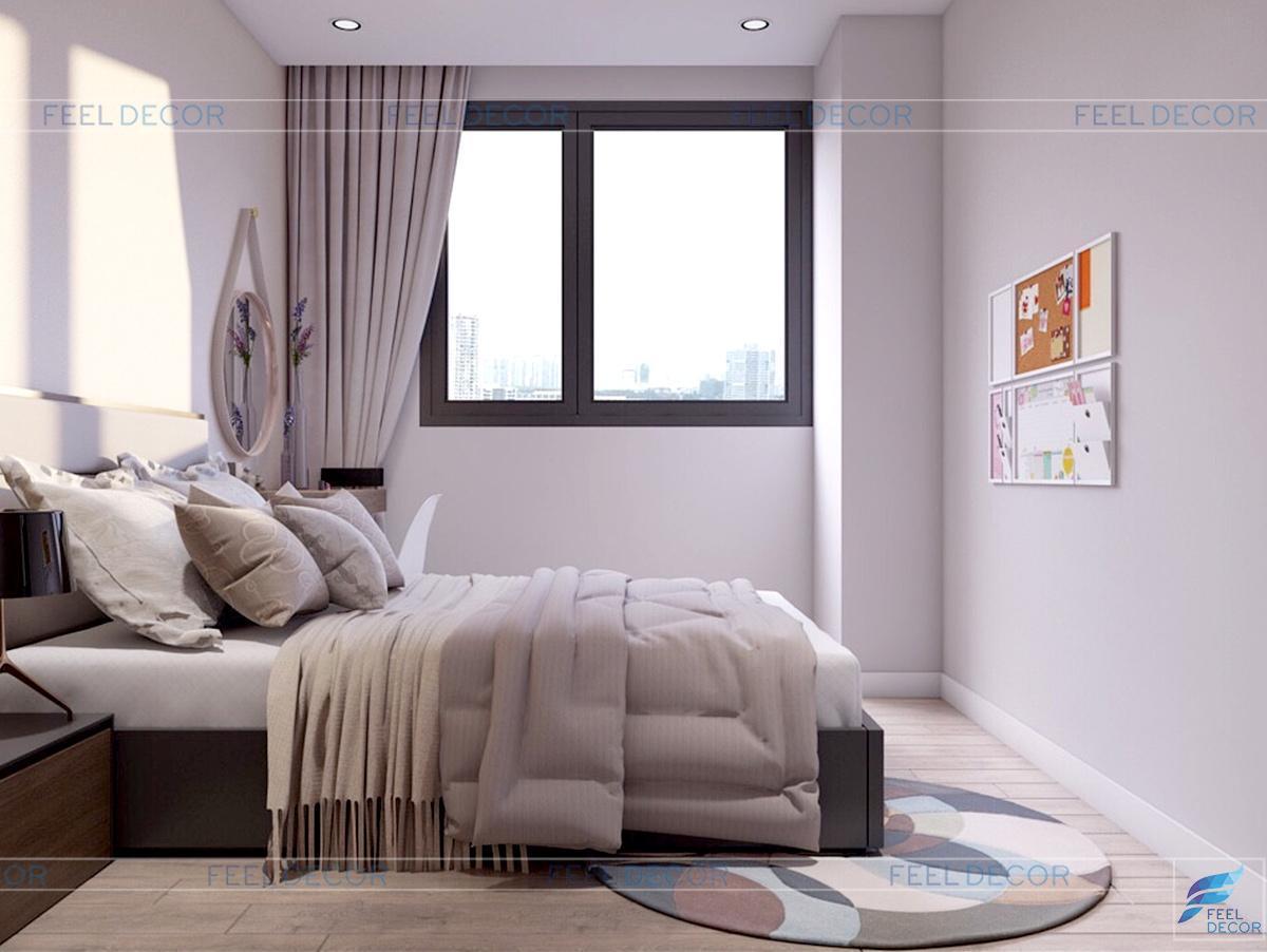 Nội thất phòng ngủ thứ 2 tại căn hộ 96m2 chung cư Green Valley