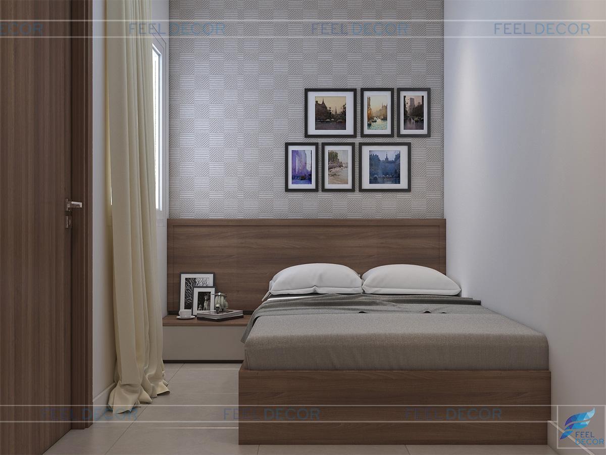 Thiết kế nội thất 2 phòng ngủ phụ căn hộ 96m2
