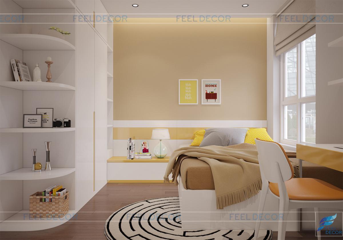 Không gian phòng ngủ bé trai năng động