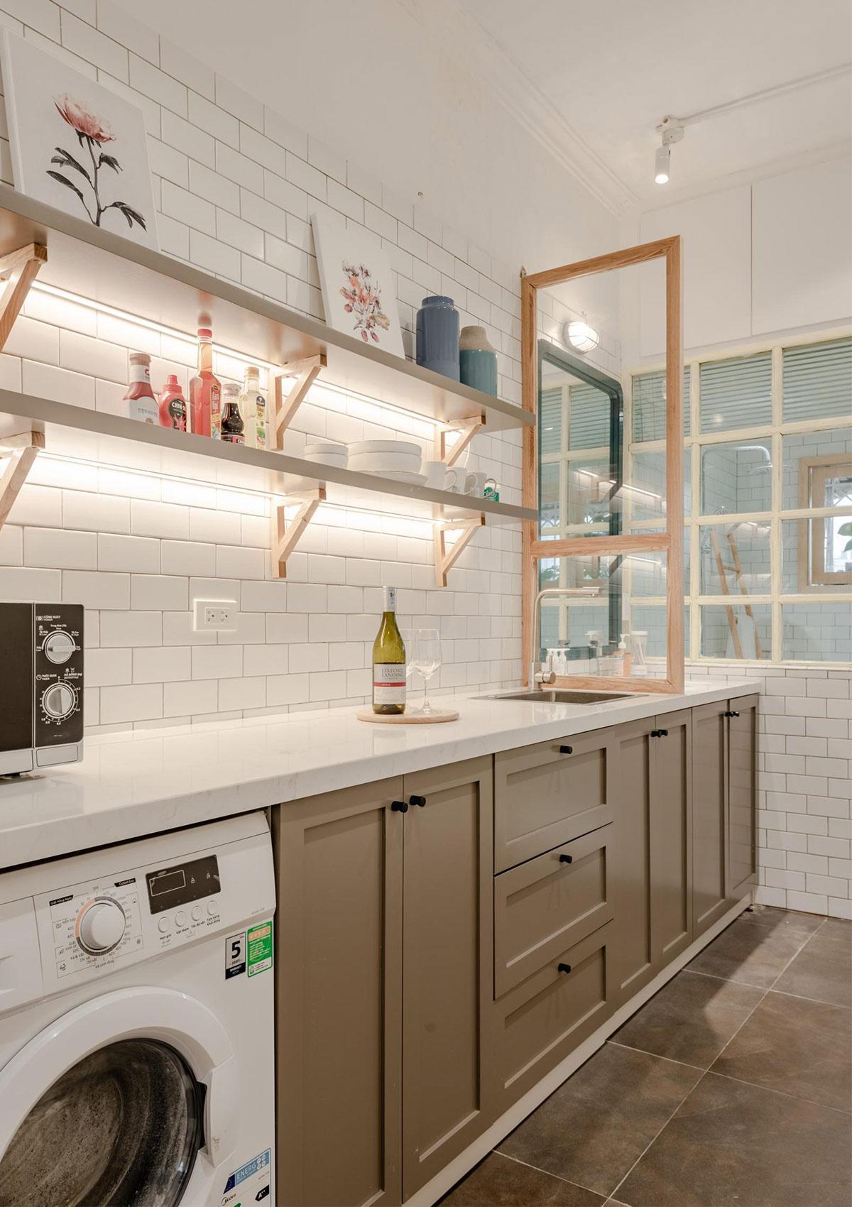 nhà bếp sau khi được cải tạo