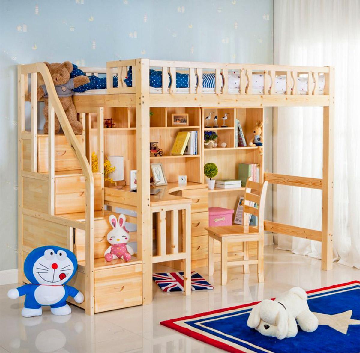 giường ngủ tích hợp bàn học