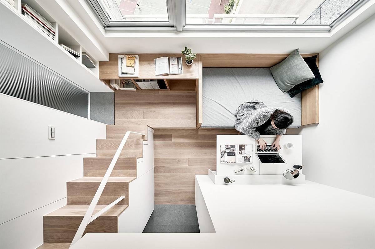 thiết kế căn hộ chung cư 22m2