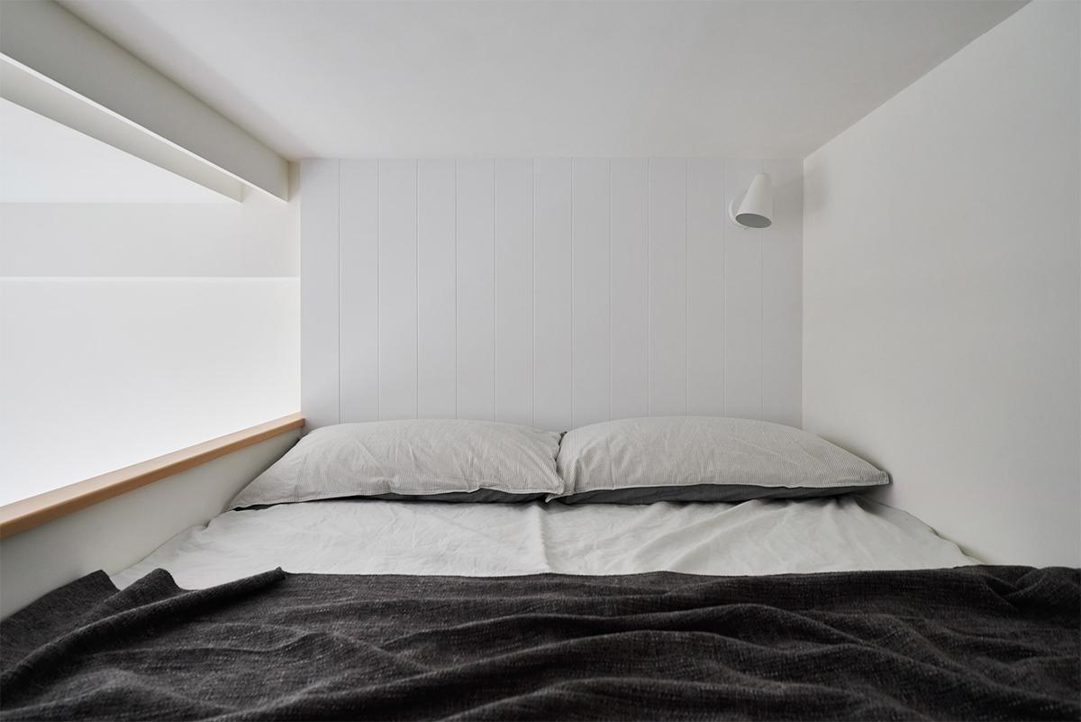 thiết kế tầng lửng cho căn hộ 22m2