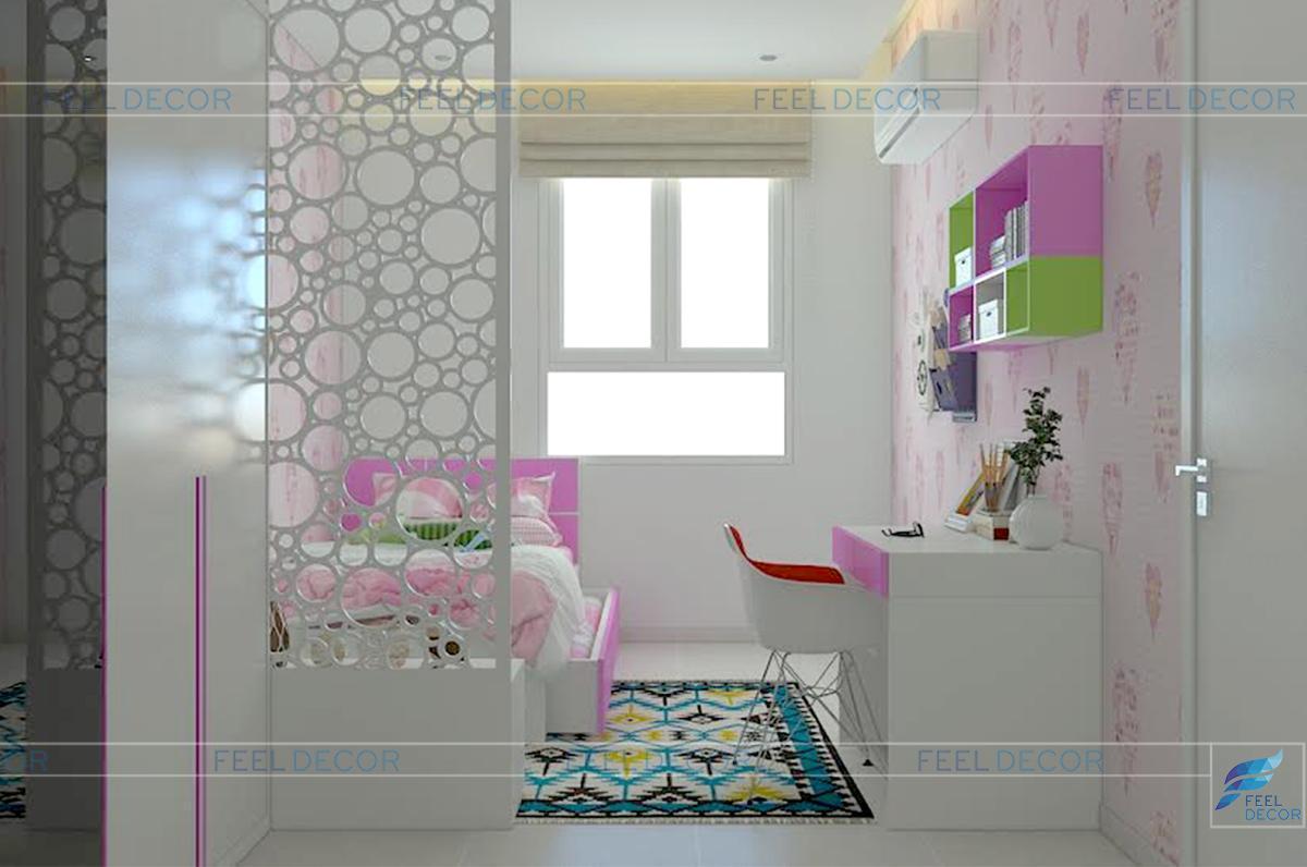 thi công nội thất phòng ngủ căn hộ 108m2 chung cư Tân Phước