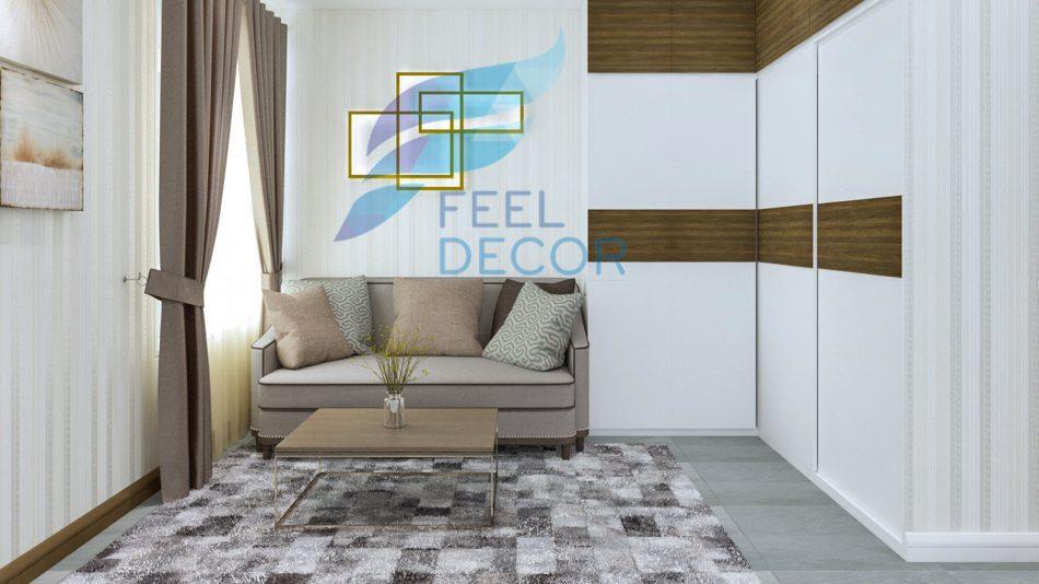 thiết kế thi công nội thất căn hộ 131m2