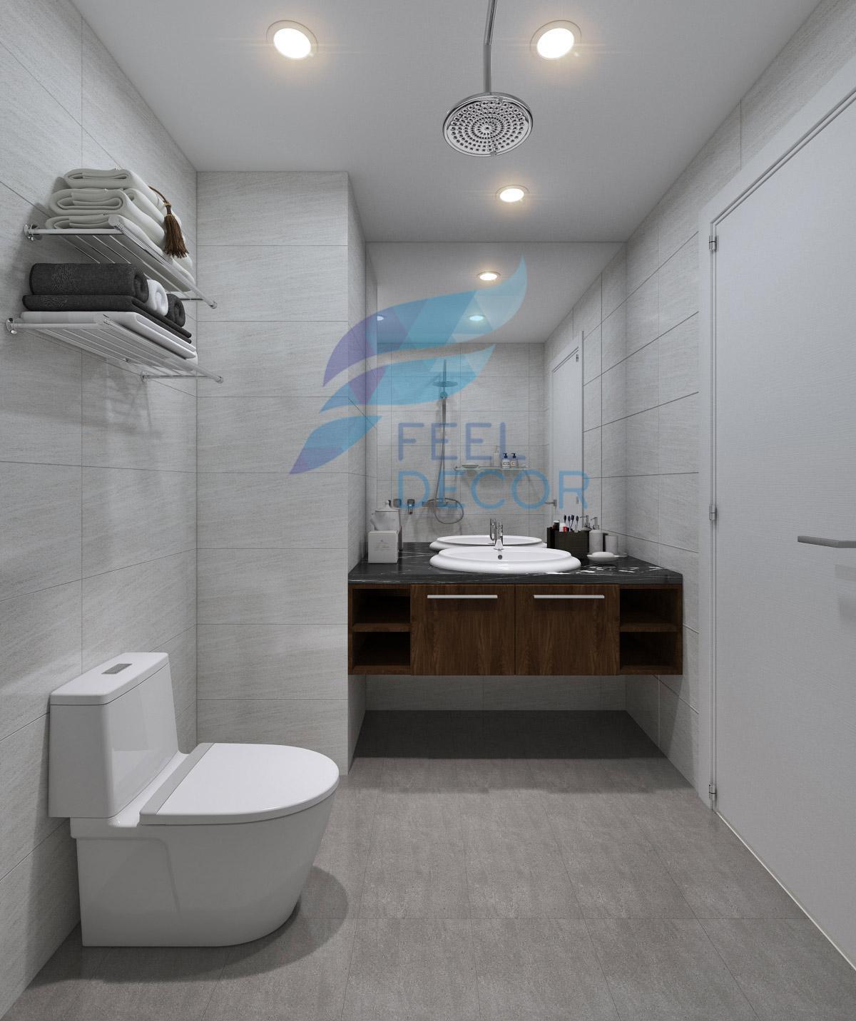 Nội thất phòng vệ sinh căn hộ 3 phòng ngủ