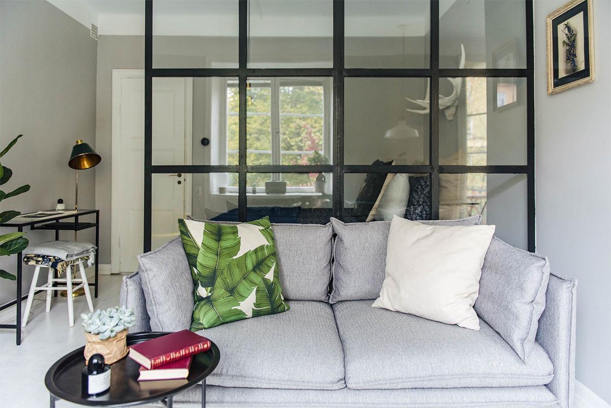 sofa phòng khách phong cách scandinavian