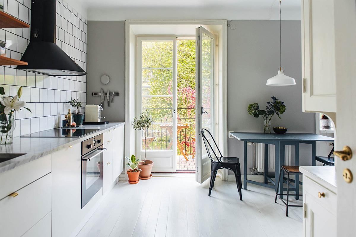 thiết kế phòng bếp phong cách scandinavian