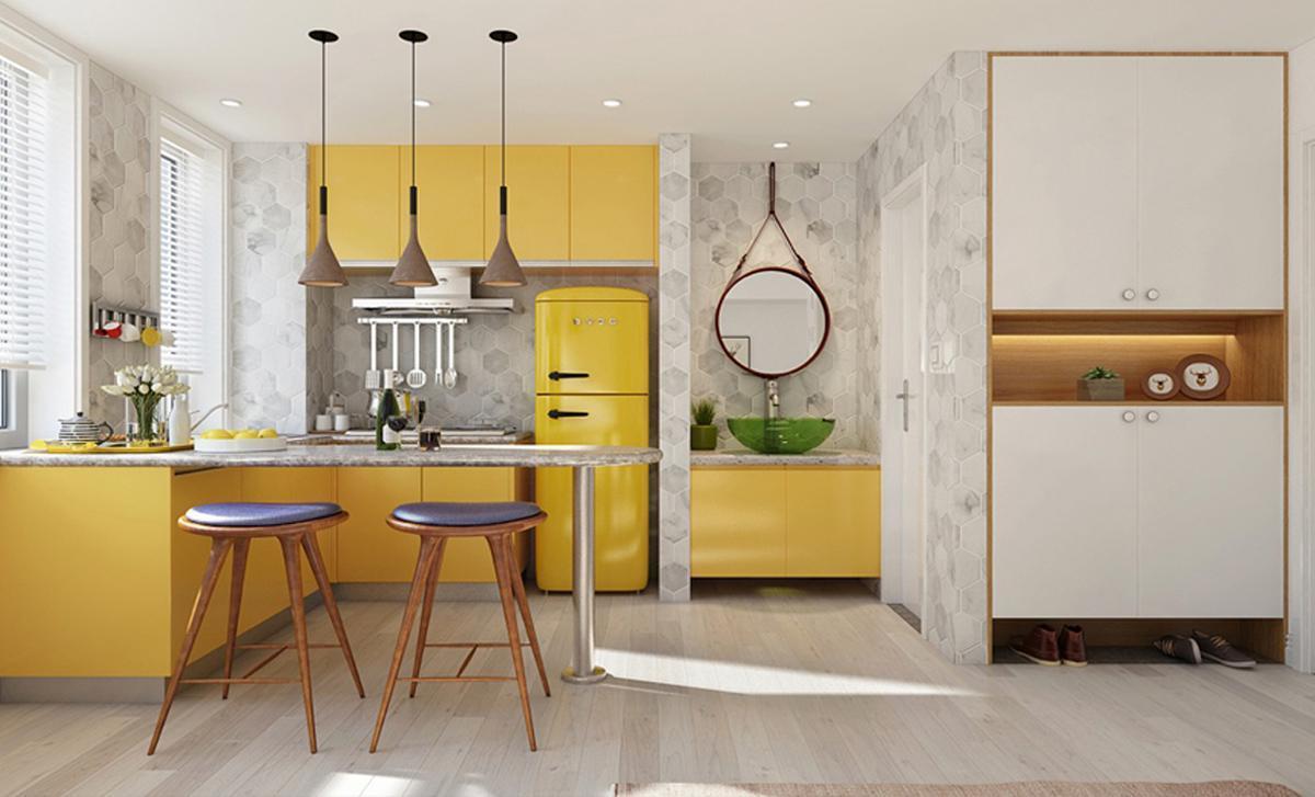 thiết kế thi công nội thất căn hộ 103m2 cho người mệnh thổ